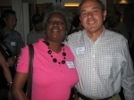 Class of '65 45th Reunion Aug 20, '10  Ola Mae (Hill) Lawson & Cyril Bonano